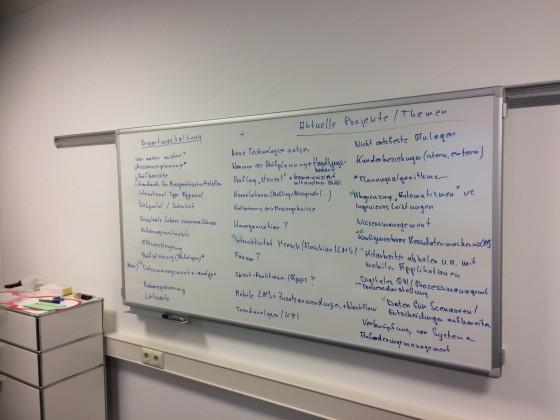 Erwartungshaltung und erste grobe Themensammlung